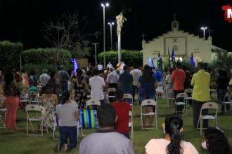Com a celebração de uma missa na praça central, de Glória D'Oeste comemorou os 54 anos da cidade.