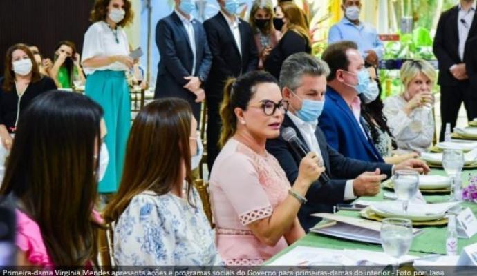 Glória D'Oeste participa do encontro de prefeitas e primeiras-damas dos municípios do Estado de Mato Grosso.